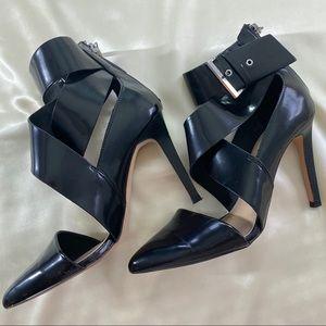 Zara Buckle Ankle Strap Pointed Heels